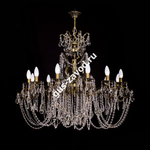 Подвесная люстра Изабелла Богиня 12 ламп бронзовая