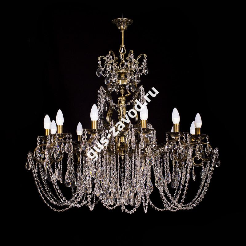 Люстра Изабелла Богиня 12 ламп бронзовая