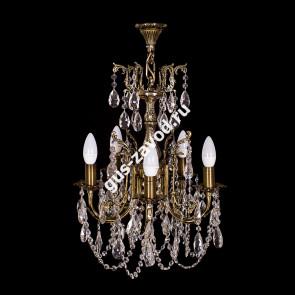 Подвесная люстра Изабелла 5 ламп бронзовая