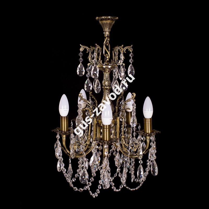Люстра Изабелла 5 ламп бронзовая