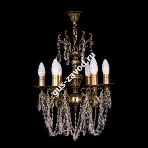 Подвесная люстра Изабелла 6 ламп бронзовая