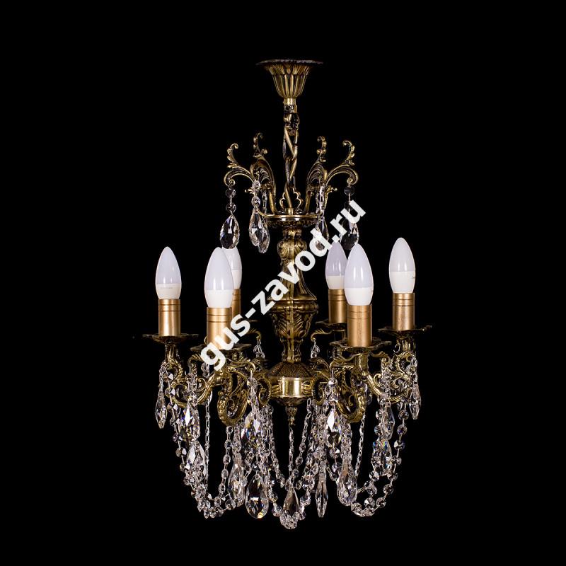 Люстра Изабелла 6 ламп бронзовая