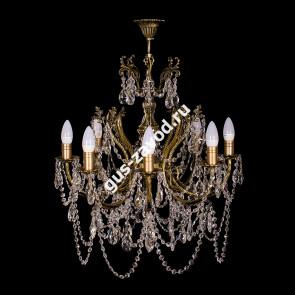 Подвесная люстра Изабелла 8 ламп бронзовая
