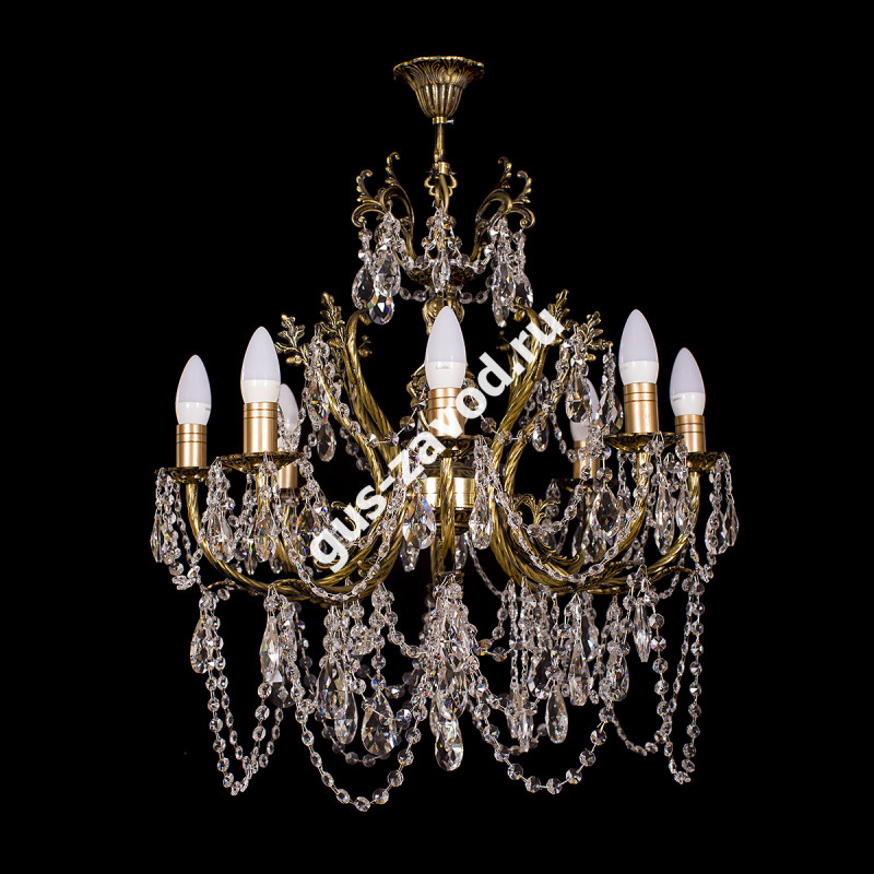 Люстра Изабелла 8 ламп бронзовая
