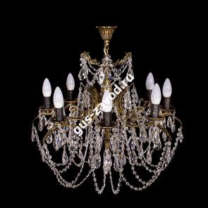 Подвесная люстра Изабелла 9 ламп жёлудь бронзовая