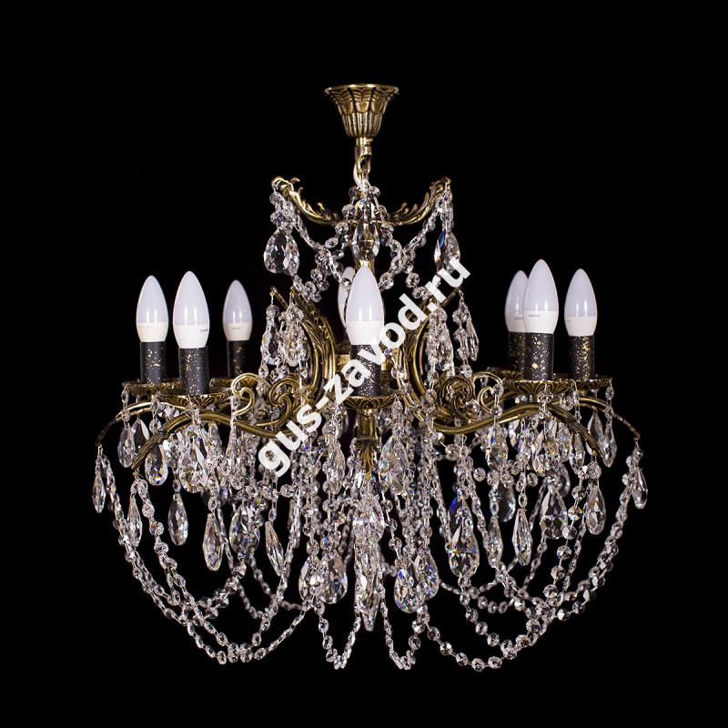 Люстра Изабелла 9 ламп жёлудь бронзовая