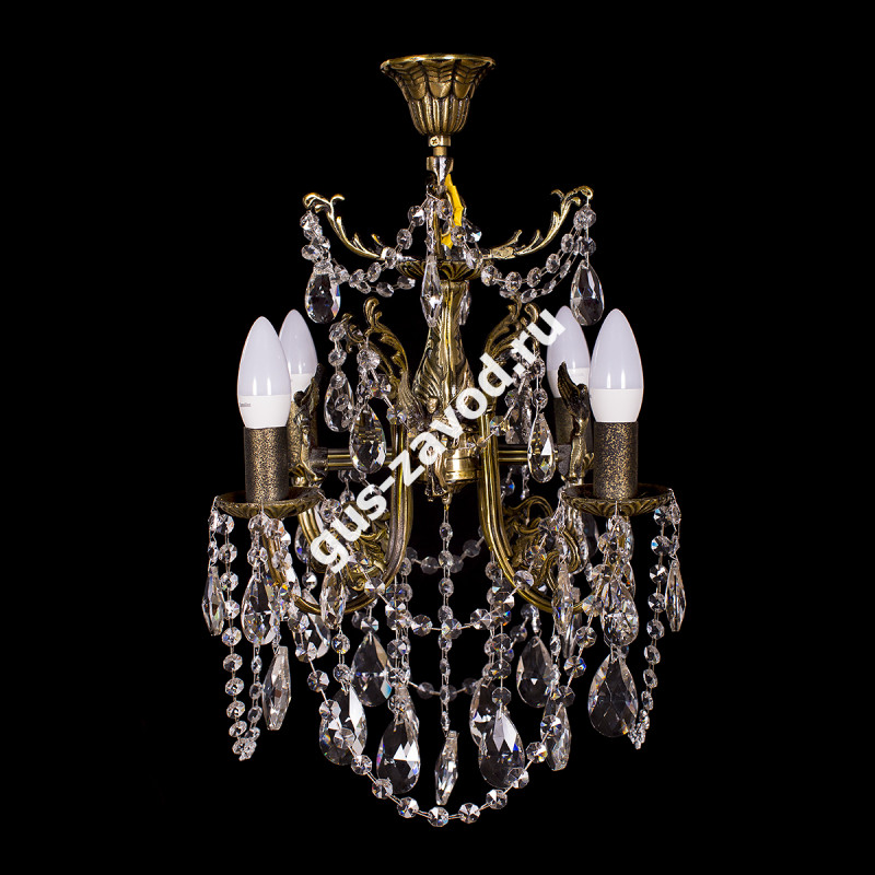 Люстра Изабелла ангел 4 лампы бронзовая