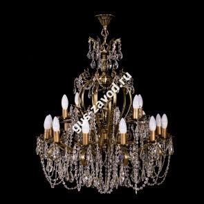Подвесная люстра Изабелла Богиня 16 ламп бронзовая