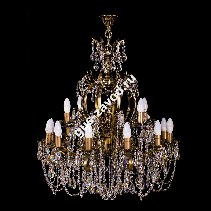 Люстра Изабелла Богиня 16 ламп бронзовая