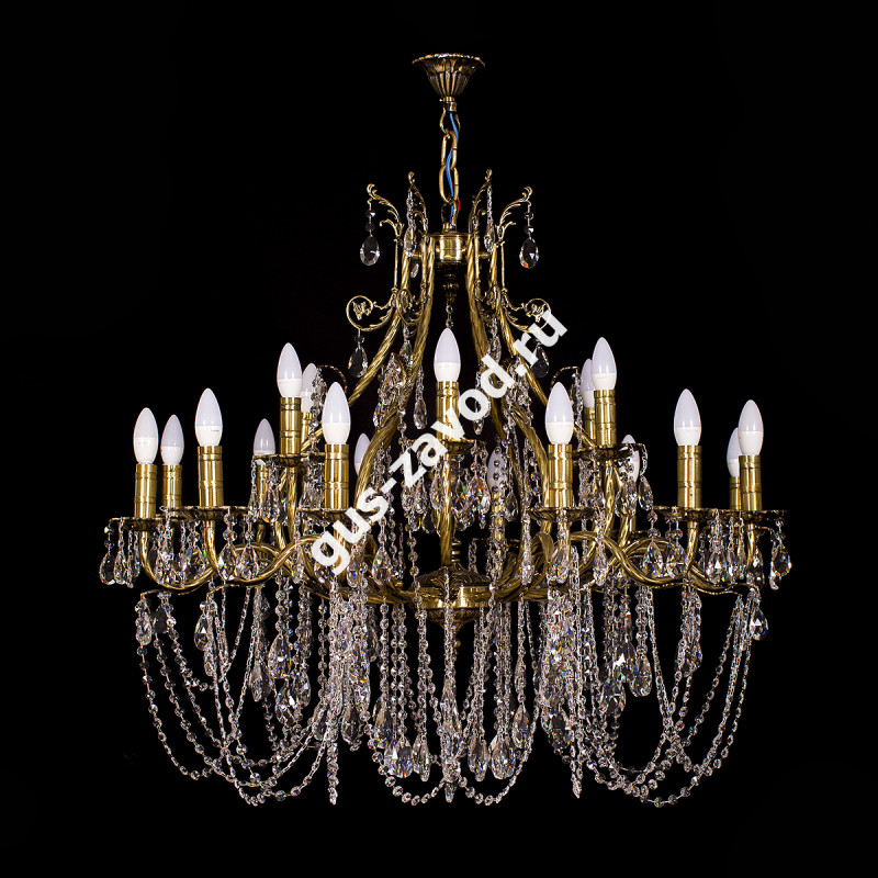 Люстра Изабелла Богиня 18 ламп резная бронзовая