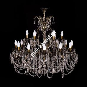Подвесная люстра Изабелла Богиня 18 ламп темная бронза