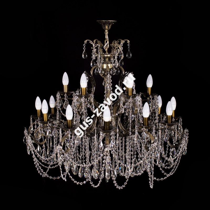 Люстра Изабелла Богиня 18 ламп темная бронза