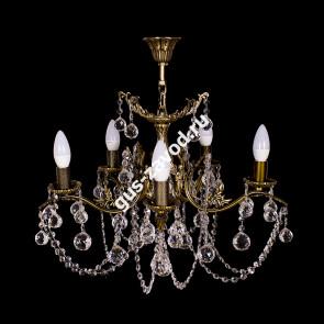 Подвесная люстра Изабелла Богиня 5 ламп шар бронзовая