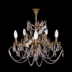 Подвесная люстра Изабелла Богиня 5 ламп журавлик бронзовая