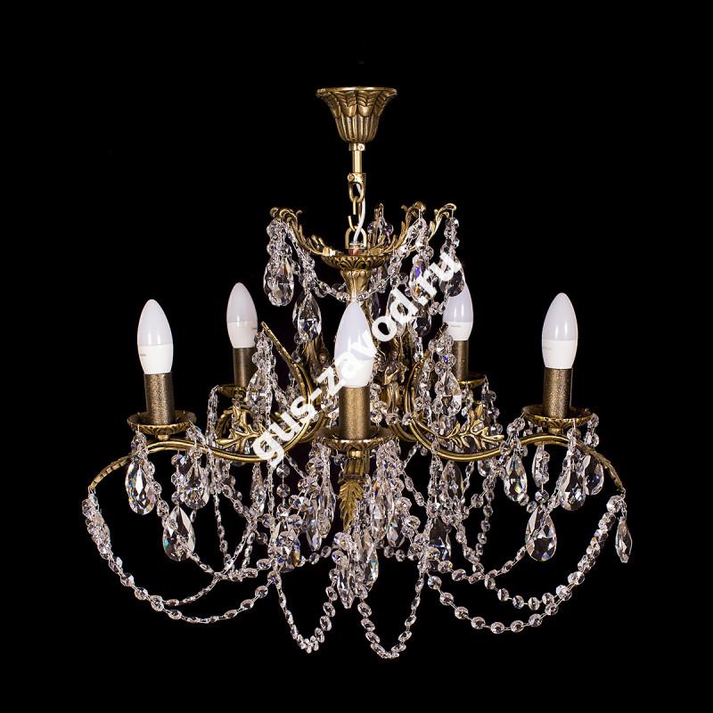 Люстра Изабелла Богиня 5 ламп журавлик бронзовая