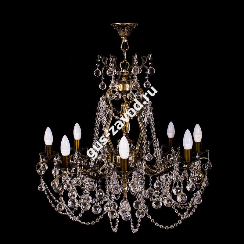 Люстра Изабелла Богиня 8 ламп шар бронзовая