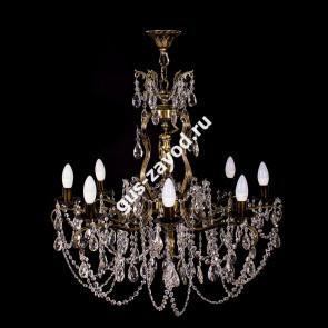 Подвесная люстра Изабелла Богиня 8 ламп журавлик бронзовая