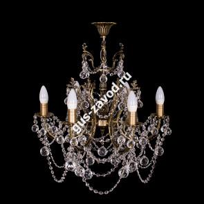 Подвесная люстра Изабелла резная 6 ламп бронзовая