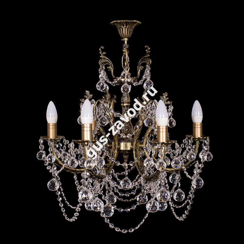 Люстра Изабелла резная 6 ламп бронзовая