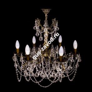 Подвесная люстра Изабелла Шар 6 ламп бронзовая