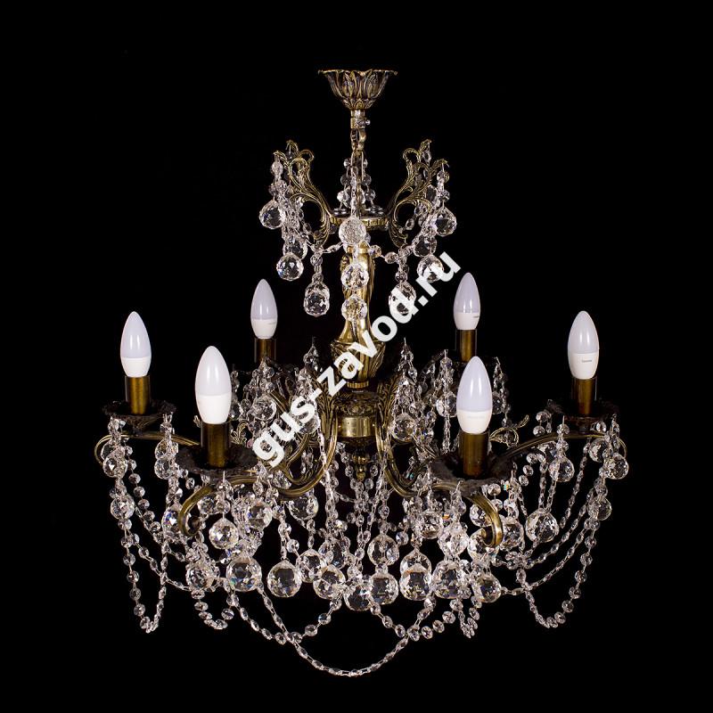Люстра Изабелла Шар 6 ламп бронзовая