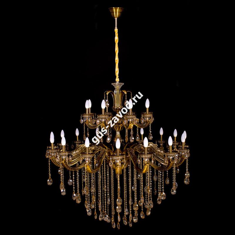 Люстра Сакура 24 лампы бронзовая