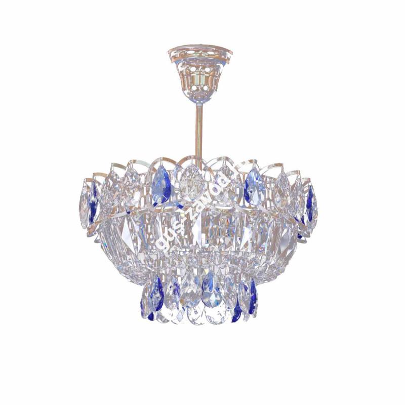 Люстра Катерина 1 лампа с подвесом цветная