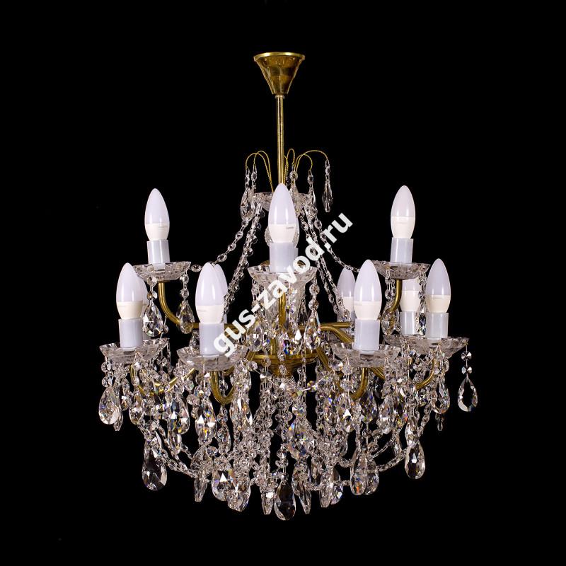 Люстра Виктория 12 ламп двухъярусная