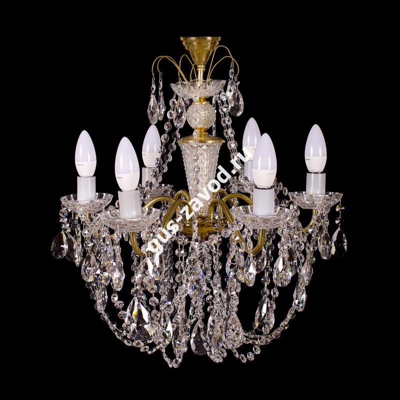 Люстра Виктория журавлик 6 ламп латунь