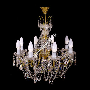 Подвесная люстра Виктория журавлик 8 ламп латунь