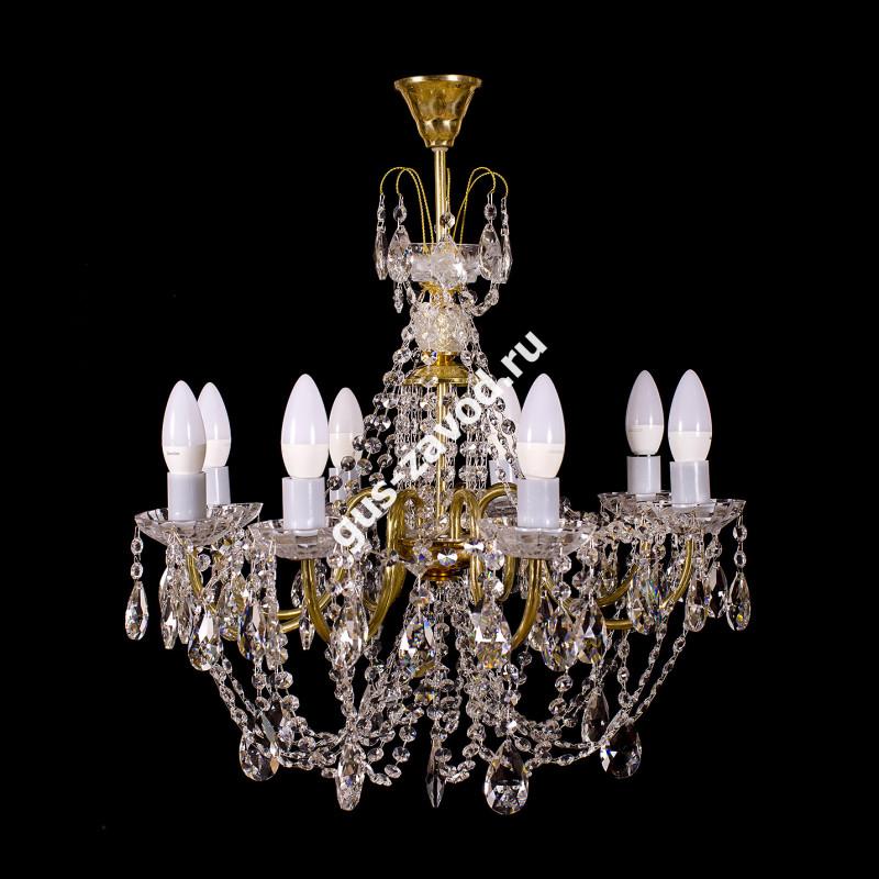 Люстра Виктория журавлик 8 ламп латунь