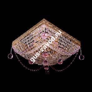 Потолочная люстра Квадрат №9 розовый