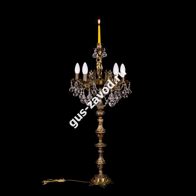 Торшер Изабелла Богиня 5 ламп журавлик